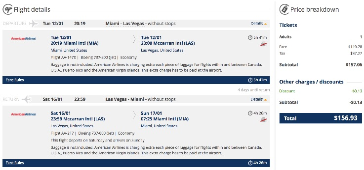 Miami to Las Vegas