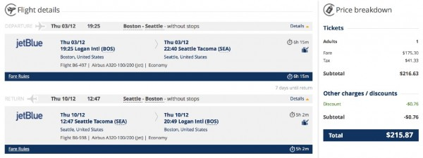 Boston to Seattle