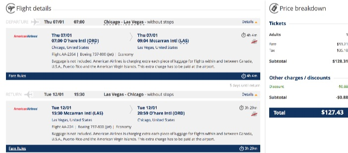 Chicago to Las Vegas