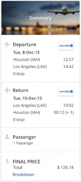 Houston to Los Angeles