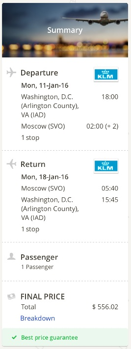Washington to Moscow