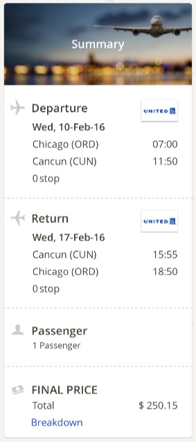 Chicago to Cancun