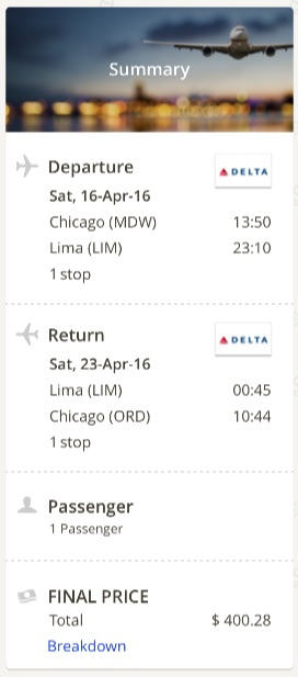 Chicago to Lima
