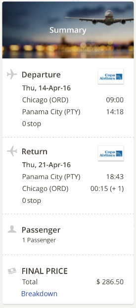 Chicago to Panama