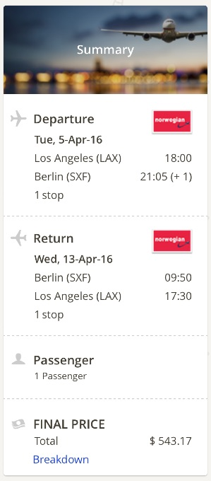 Los Angeles to Berlin