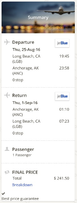 Los Angeles to Anchorage
