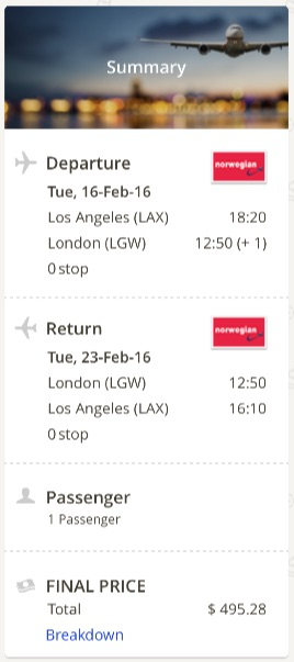 Lso Angeles to London