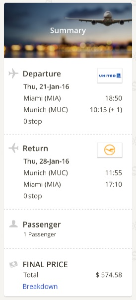 Miami to Munich