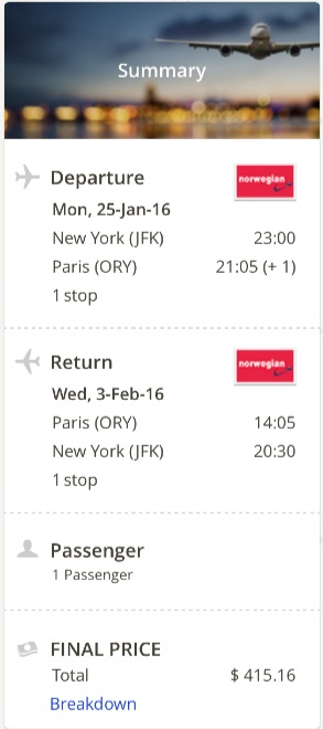 New York to Paris