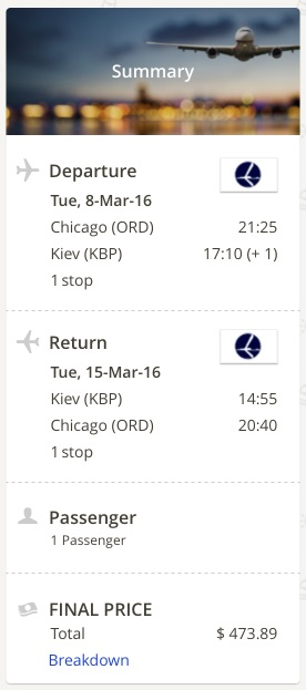 Chicago to Kiev