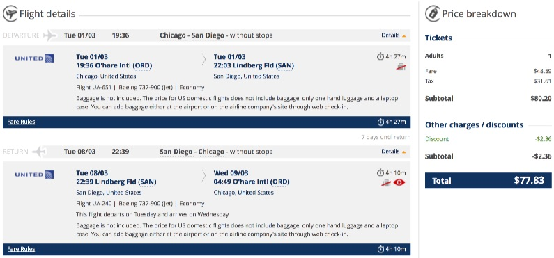 Chicago to San Diego