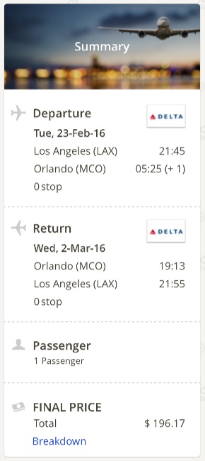 Los Angeles to Orlando