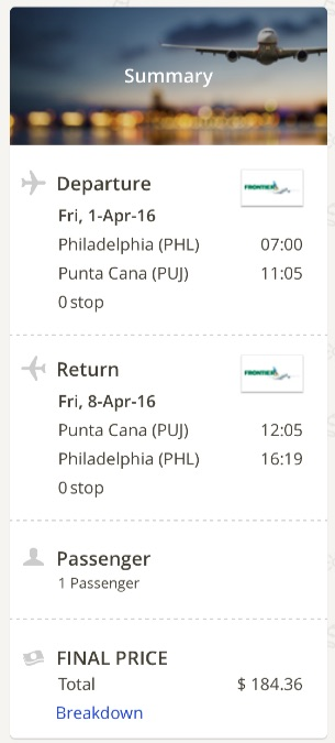 Philadelphia to Punta Cana