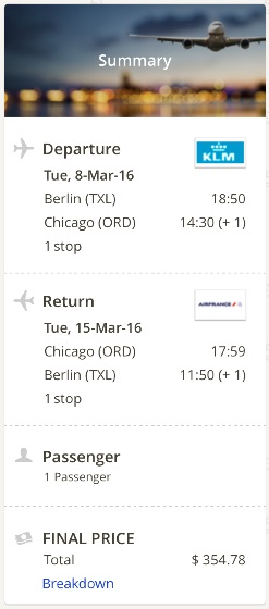 Berlin to Chicago