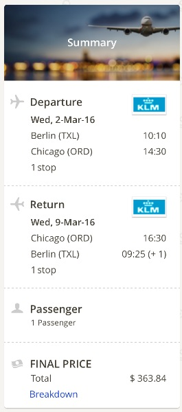 Chicago to Berlin