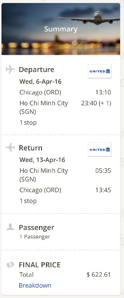Chicago to Vietnam