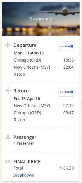 Chicago to New Orleans