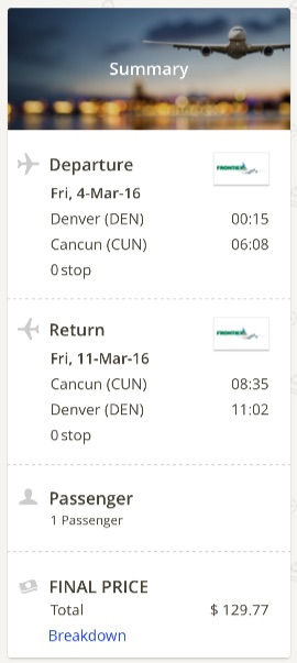 Denver to Cancun