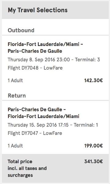 cheap flights from Miami to Paris