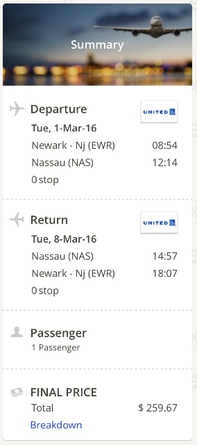 New York to Nassau