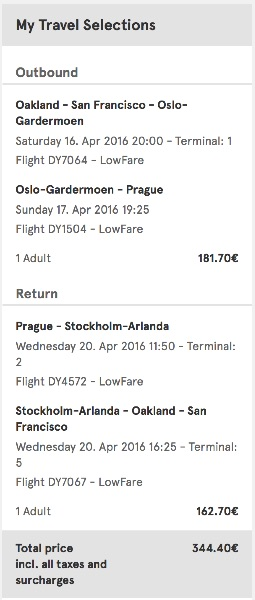 cheap flights from San Francisco to Prague