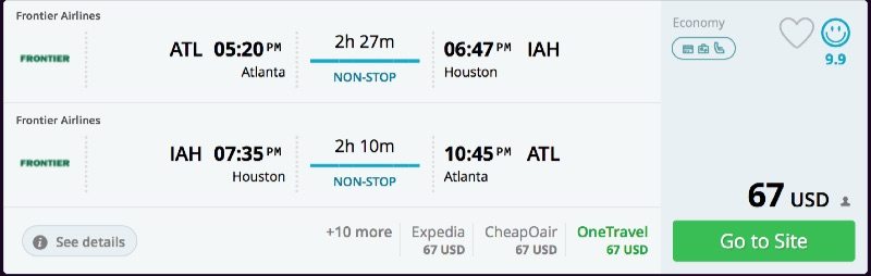 Atlanta to Houston
