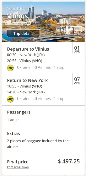 new-york-to-vilnius