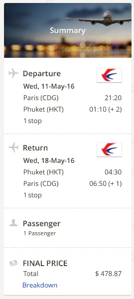 Paris to Phuket