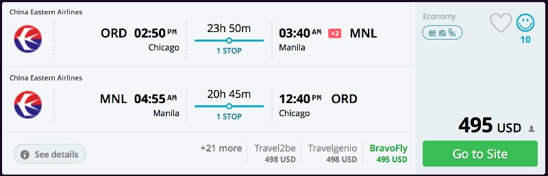 Chicago to Manila