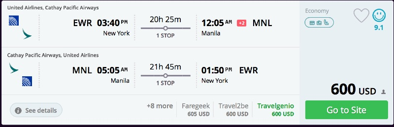 New_York_to_Manila_flights