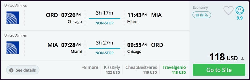 Chicago to Miami