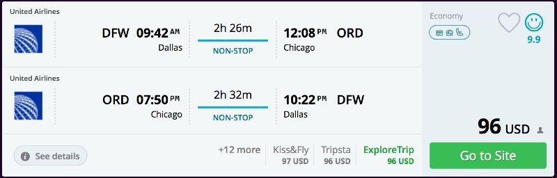 Dallas to Chicago